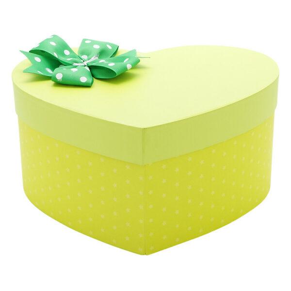 hộp quà trái tim vàng chấm bi