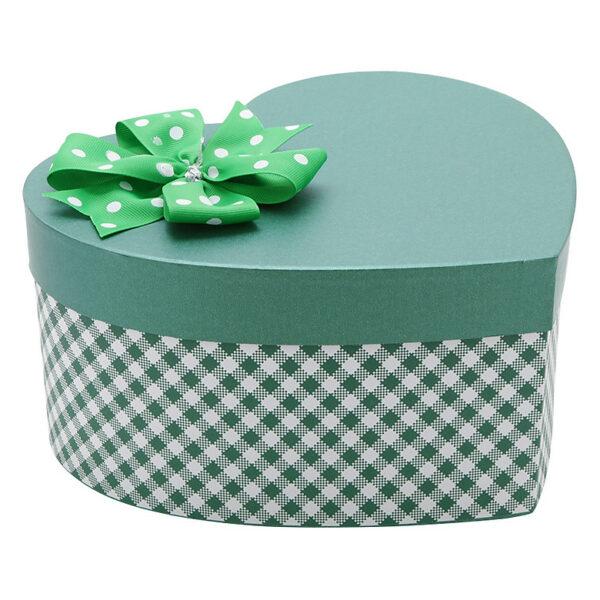 Hộp quà xanh lá đậm caro