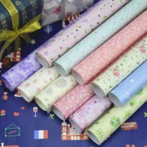 Giấy gói quà nhiều màu sắc hoạ tiết