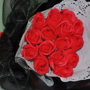 Hoa hồng sáp thơm 15 bông màu đỏ