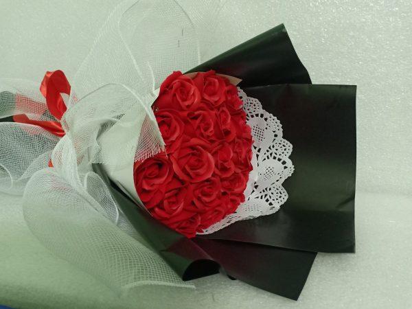 Hoa hồng sáp thơm 19 bông màu đỏ