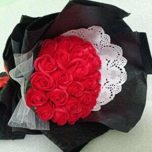 Hoa hồng sáp thơm 25 bông màu đỏ