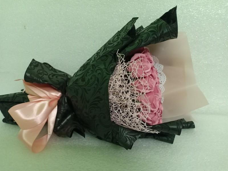 Hoa hồng sáp thơm 25 bông màu hồng