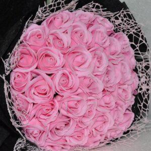 Hoa hồng sáp thơm 36 bông màu hồng