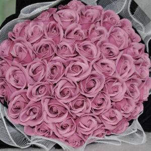 Hoa hồng sáp thơm 50 bông màu hồng